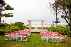 Прибрежное место свадьбы Стоковое Изображение