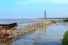 Прибрежное место строительства дорог, Таиланд Стоковые Изображения RF