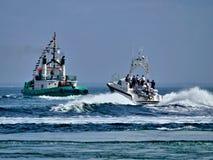 Прибрежное ремесло патруля полиции стоковые изображения rf