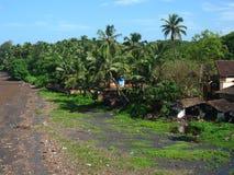 прибрежное село ratnagiri I Стоковые Фото