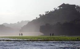Прибрежное kidul jogjakarta центральная Ява Индонезия зоны горы пейзажа ландшафта Стоковые Фотографии RF