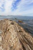 Прибрежные взгляды St Tropez стоковая фотография