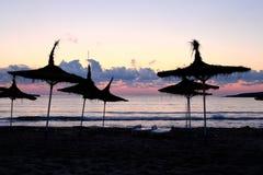 прибрежные зонтики Стоковые Фото