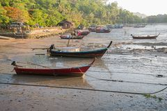 Прибрежные рыбацкие лодки Стоковые Фото