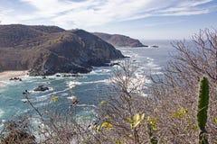 Прибрежные headlands Тихим океаном Стоковые Фото