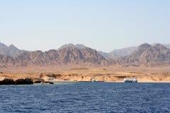 прибрежный взгляд Красного Моря Стоковая Фотография
