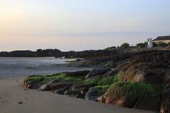 прибрежный взгляд ogunquit Мейна Стоковое Изображение RF