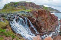 Прибрежный водопад Стоковая Фотография