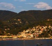 Прибрежный город Moneglia, Cinque Terre Стоковое Изображение