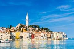 Прибрежный город Rovinj, Istria, Хорватия. Стоковые Изображения RF