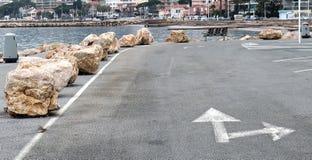 Прибрежный дорожный знак стоковое изображение