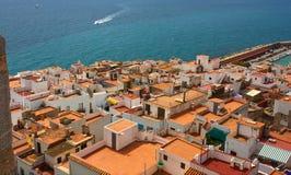 прибрежный испанский городок Стоковое Изображение
