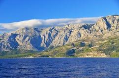 Прибрежный ландшафт в Хорватии Стоковые Фотографии RF