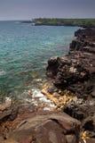 Прибрежный ландшафт на большом острове Стоковые Изображения