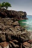 Прибрежный ландшафт на большом острове Стоковые Изображения RF