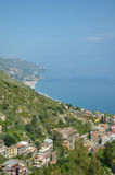 прибрежный ландшафт Сицилия Италии Стоковые Фото
