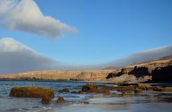 Прибрежный ландшафт, coloradas Las, Фуэртевентура Стоковые Фотографии RF
