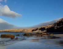 Прибрежный ландшафт, Jandia, Фуэртевентура Стоковое Изображение RF