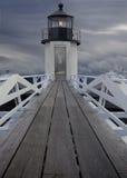 прибрежный маяк Мейна Стоковая Фотография RF