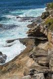 Прибрежный путь от Coogee к Maroubra, Сиднею, Австралии Стоковая Фотография