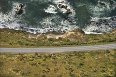 прибрежный хайвей сценарный Стоковая Фотография RF
