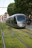 прибывающий трам Стоковая Фотография