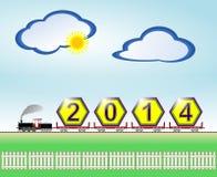 Прибытие Нового Года 2014 Стоковые Фото