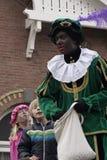 Прибытие Sinterklaas и piet zwarte стоковое изображение rf