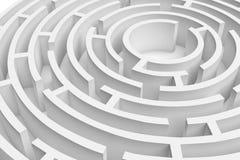 приближенный перевод 3D белого круглого consruction лабиринта Стоковая Фотография RF