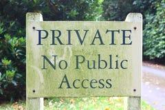 Приватно отсутствие открытого доступа Стоковое Фото