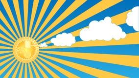 приведенное в действие двигателем солнце пара Стоковые Изображения RF