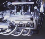 приведенный в действие газ двигателя Стоковое фото RF