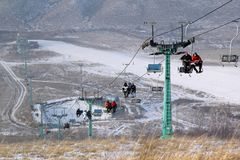 Привесной веревочк-путь пассажира Стоковая Фотография