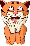 Приветственное восклицание тигра шаржа Стоковая Фотография