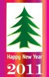 приветствие зарева очарования 2011 карточки Стоковые Изображения RF