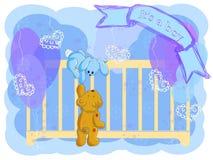 приветствие карточки мальчика рождения Стоковое Фото