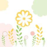 приветствие карточки предпосылки флористическое иллюстрация вектора