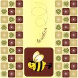 приветствие карточки пчелы Бесплатная Иллюстрация