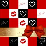 приветствие карточки романтичное Иллюстрация штока