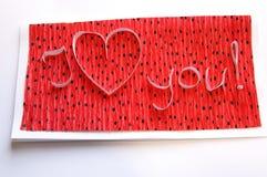 приветствие карточки handmade Стоковое Фото