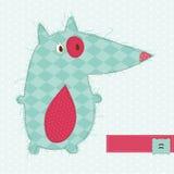 приветствие лисицы карточки иллюстрация штока