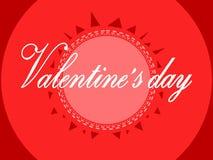 Приветствие на день валентинки иллюстрация штока