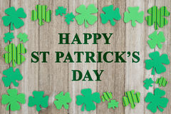 Приветствие дня ` s St. Patrick Стоковая Фотография