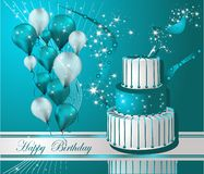 приветствие поздравительой открытки ко дню рождения счастливое Стоковые Фотографии RF