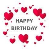 приветствие поздравительой открытки ко дню рождения счастливое Стоковое Изображение