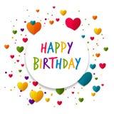 приветствие поздравительой открытки ко дню рождения счастливое Стоковое Изображение RF