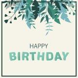 приветствие поздравительой открытки ко дню рождения счастливое Стоковое фото RF