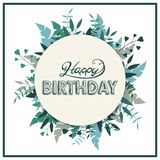 приветствие поздравительой открытки ко дню рождения счастливое Стоковая Фотография