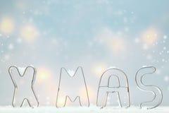 Приветствие резца печенья Xmas Стоковые Фото