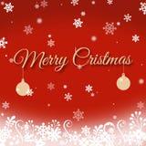 приветствие рождества карточки веселое Стоковое Изображение RF